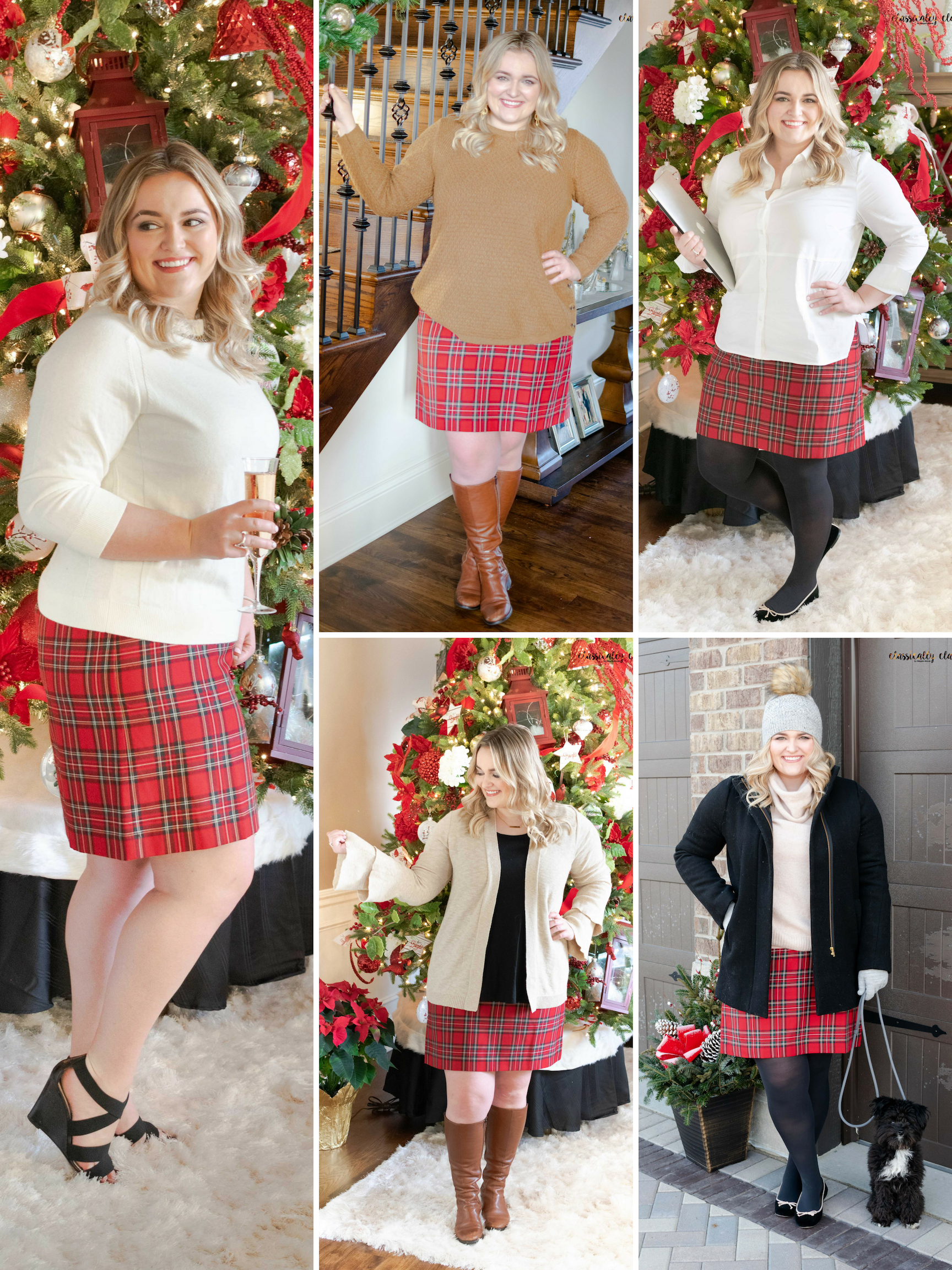 How to Style A Plaid Skirt